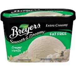 Breyers Fat Free Creamy Vanilla Ice Cream