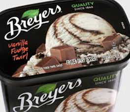 Breyers Vanilla Fudge Twirl Ice Cream