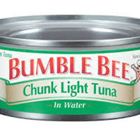 Bumble Bee Chunk Light Tuna in Water