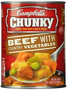 Campbell's Chunky Beef with Country Vegetables