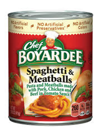Chef Boyardee Spagetti & Meatballs