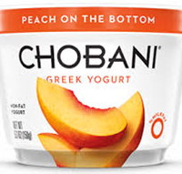 Chobani Peach Yogurt