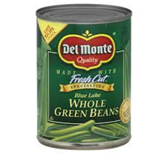 Del Monte Blue Lake Whole Green Beans