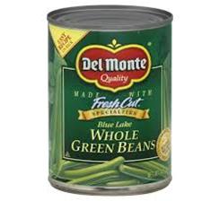 Del Monte Blue Lake Whole Green Beans