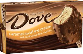 Dove Caramel Swirl Ice Cream Bar
