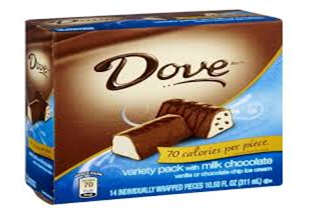 Dove Variety Mini's Milk Chocolate Ice Cream Bar