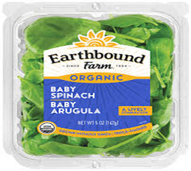 Earthbound Farms Baby Spinach,Baby Arugula 5oz