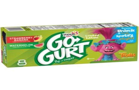 Go Gurt Strawberry Banana & Watermelon Yogurt