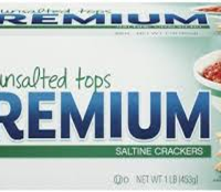 Nabisco Saltines Premium Unsalted Tops