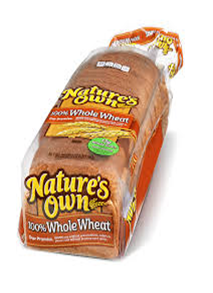 Natures Own 100% Whole Wheat Bread
