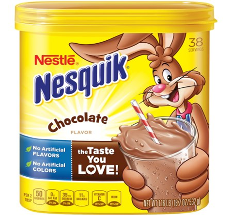 Nesquik Chocolate Powder Flavored
