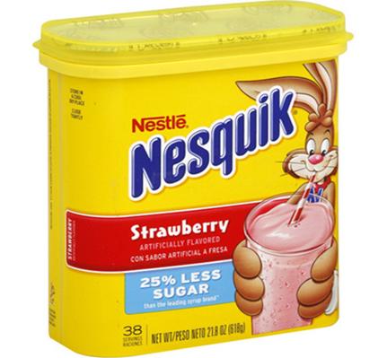 Nesquik Strawberry Powder Flavored