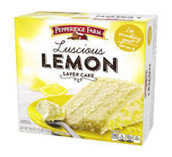 Pepperidge Farm Luscious Lemon Cake