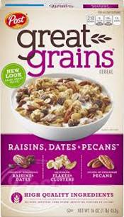 Post Great Grains Raisin Dates & Pecans