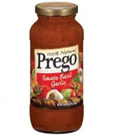 Prego Tomatoe Basil Garlic Sauce