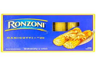 Ronzoni Manicotti No 90