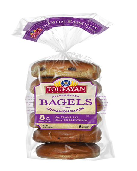 Toufayan Cinnamon Raisin Bagel