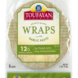 Toufayan Garlic Pesto Wraps