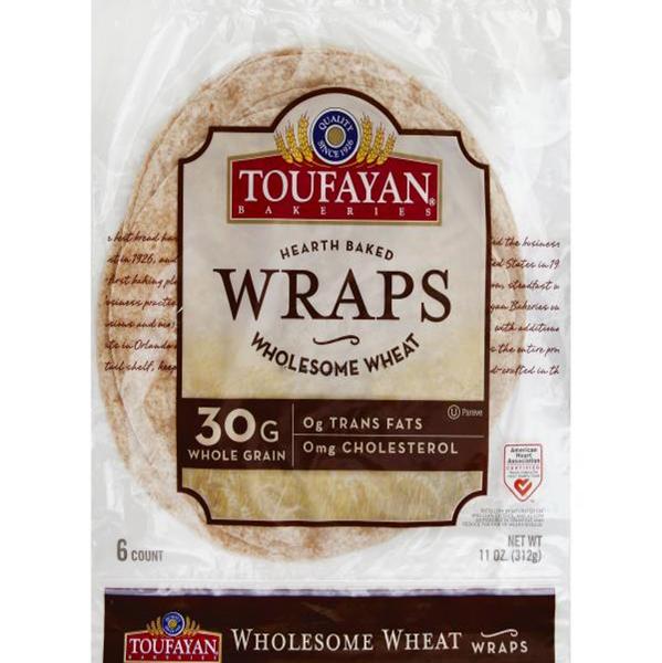 Toufayan Wholesome Wheat Wraps