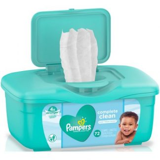 Pamper wipes 72 count
